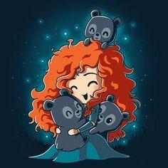 Wallpaper Disney - BFFs (Merida and the Triplets) T-Shirt Brave TeeTurtle- Disney Pixar, Chibi Disney, Kawaii Disney, Disney Fan Art, Disney Animation, Disney And Dreamworks, Disney Movies, Brave Disney, Funny Disney