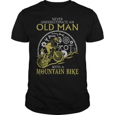 OLD MAN WITH A MOUNTAIN BIKE T-Shirts, Hoodies. CHECK PRICE ==► https://www.sunfrog.com/Fitness/OLD-MAN-WITH-A-MOUNTAIN-BIKE-126381675-Black-Guys.html?id=41382