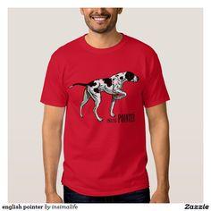 english pointer tee shirt