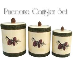 pine cone kitchen accessories 1000 images about rustic dinnerware serveware canister 4223