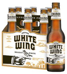 Shiner White Wing, a witbier style beer brewed in Shiner, Texas.