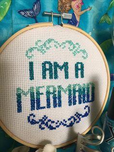 My mermaid cross stitch