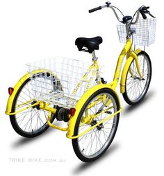 This is on my buy list - a Trike Bike 3 Wheel Bicycle Tricycle