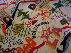 Tea Towel or Decorative Hand Towel 20x29 Choose a state CatstudioDish Cloth
