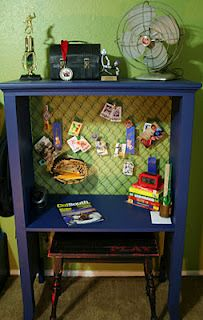 Turn old dresser into child's desk.