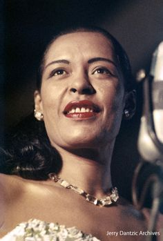 Billie Holiday, at the Second New York Jazz Festival on Randall's Island, August 24, 1957.