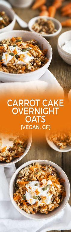 Carrot cake overnight oats / Vegan, gluten-free, dairy-free / Goodness is Gorgeous / Healthy breakfast