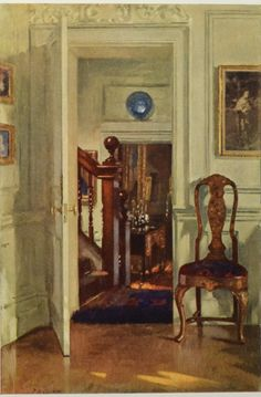 Patrick W Adam: An Interior at Hove, 1913. Published in the Studio Magazine