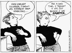 ALISON BECHDEL: 'Thrilled' graphic novelist breaks yet more ground with MacArthur 'genius' grant Harry Styles Blog, Alison Bechdel, Vintage Lesbian, Never Be Alone, Butches, Overwatch, Alter, Childhood, Gender