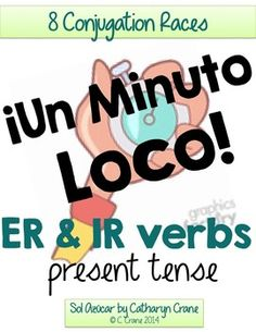 *If you like my freebies, please follow my store!*Students race to conjugate as many present tense ER and IR verbs as they can with these Mad Minute worksheets, a fun game for learning Spanish er and ir verbs.The listing includes 8 different race worksheets with answer keys, vocal sheet, student instructions, and a language application writing activity.