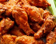 Crispy Buffalo Chicken Wings are exactly what they claim to be. CRISPY without deep frying, using one special ingredient you have in your kitchen pantry! | https://cafedelites.com