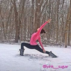 Viparita Virabhadrasana aka Reverse/Peaceful Warrior pose #snowga #virabhadrasana ❄️❄️❄️ Warrior Pose, Practice Yoga, Tantra, Skiing, Poses, Adventure, Winter, Heart, Ski