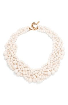 Free shipping and returns on BaubleBar Bubblestream Imitation Pearl Necklace at Nordstrom.com. Strings of pearls were trending at fashion week this season, and this braided style, featuring mixed-width imitation pearls, makes a luminous finishing touch to a variety of looks.