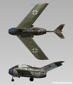 "Focke Wulf Fw Ta 183 ""Huckebein"". Some became god fathers of Pulke, some - of MiG-15, some - of F-86 Sabre."