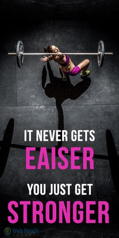 It never gets eaiser you just get stronger. #fitness #exercise #abs #slim #fit #beauty #health #workout #motivation #cardio #belly #woman-fitness #ab-workouts #ab-inspiration