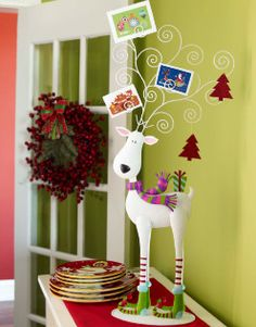 reindeer, cute for displaying cards or family Christmas photos :)