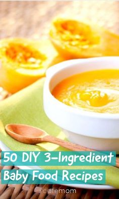 Here are 50 easy and nutritious 3-ingredient baby food recipes! #DIY #homemade