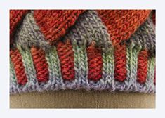 Entrelac knitting has experienced a revival with the advent of long-repeat self-striping yarns. This entrelac hat , the Kaleidoscope Tam. Knitting Stitches, Knitting Patterns, Knitting Projects, Color Change, Stitch Patterns, Knitted Hats, Diy And Crafts, Knit Crochet, Triangle