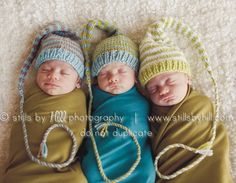 1 Funky Newborn Munchkin Hat Baby Photo PROP by MadAboutColour, $28.00--  Need some cute hats for the newborn shoots!