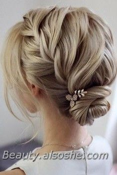Of The Most Romantic Updo Wedding Hairstyles 2020 Beauty Alsoshe In 2020 Up Dos For Medium Hair Braids For Short Hair Medium Hair Styles