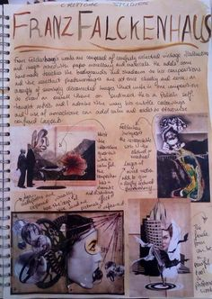 Franz Falckenhaus critical study for GCSE Art 'Order and Disorder' A Level Sketchbook, Gcse Art Sketchbook, Sketchbook Cover, Sketchbook Ideas, Artist Research Page, Arts Ed, Weird Art, Eye Art, Disorders