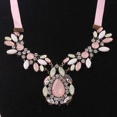 Colorido gota de água cristal 18 K banhado a ouro de cristal austríaco NecklacesPendants para as mulheres moda jóias por atacado grátis frete