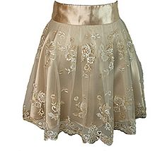 Cocktail Aprons  Grace - Champagne   The most elegant and stunning apron in our collection! Fine beaded, sequined and embroidered bridal lace paired with silky crepe satin.  One size. Our extra long ties provide a beautiful fit for most women. Hand wash gentle. Tumble or hang dry. Dry clean for best results.  $125.00