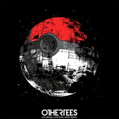 """""""Poked to Death"""" by zerobriant T-shirts, Tank Tops, Sweatshirts and Hoodies on sale until 20th September at Othertees.com Pin it for a chance at a FREE TEE! #pokemon #starwars #deathstar #othertees #anime #manga"""