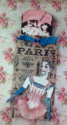 Paris Flea tag for May 2016 Character Construction Tag Swap