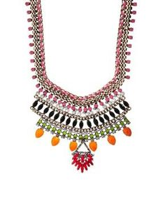 River Island Bright Multi Section  Necklace