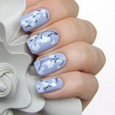 trendy flower nail designs 2017 - style you 7 Feather Nail Designs, Nail Art Designs, Nail Designs 2017, Flower Nail Designs, Flower Nail Art, Nail Designs Spring, Nails Design, Butterfly Nail, Spring Nails