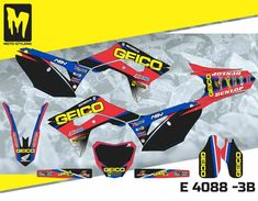 Honda CRf 2018 up to 2019 Moto StyleMX graphics decals kit stickers Mx Bikes, Dirtbikes, Motocross, Honda, Decals, Graphics, Kit, Stickers, Ebay