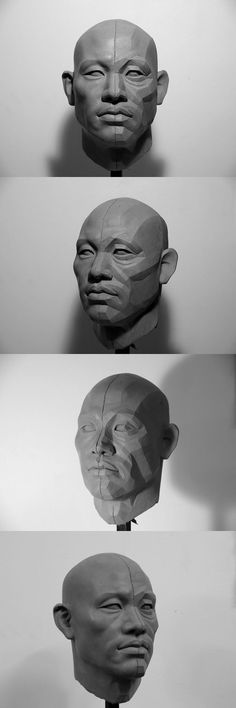 Concept Modeling For Easy Clay Sculptures: – Picture : – Description – 김병하 -Read More – Head Anatomy, Anatomy Drawing, Anatomy Art, Easy Clay Sculptures, Sculpture Clay, Sculpture Portrait, Anatomy Reference, Art Reference, Planes Of The Face