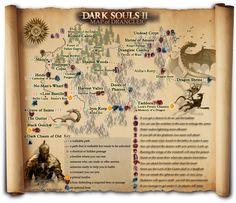 Dark Souls 2, Photo Wall, Map, Adventure, Illustrations, Drawings, Pagan, Photograph, Location Map