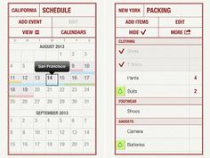 Packing list app