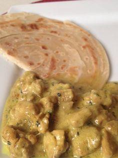 Chicken korma & chapati (East African)