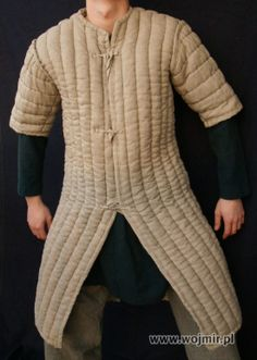 Front opening gambeson.