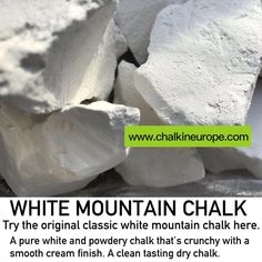 White mountain chalk is best selling and most popular chalk. A pure white and powdery chalk. It is crunchy with a smooth grit free finish and has that popular pure white clean dry chalk taste. Best Edibles, Super White, Classic White, Mountain, It Is Finished, Pure Products, The Originals, Mountaineering