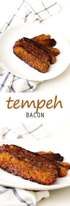 "Tempeh Bacon More from my site Vegan Potato Soup Vegan Tempeh Bacon – a delicious smoky plant-based alternative! Vegan BLT Sandwiches with Smoky Tempeh ""Bacon"" Vegan TLT Sandwich (Tempeh Lettuce Tomato) Vegan Tempeh Bacon How to Make Baked Tempeh Bacon Veggie Recipes, Whole Food Recipes, Vegetarian Recipes, Cooking Recipes, Healthy Recipes, Vegetarian Bacon, Tempeh Recipes Vegan, Cooking Food, Cooking Tips"
