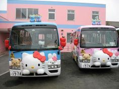 Hello Kitty bus depot!