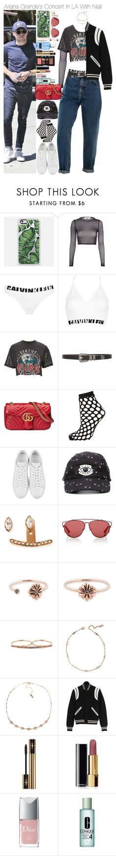 """""""Sin título #288"""" by novemberfourteen ❤ liked on Polyvore featuring beauty, Oh My Love, Calvin Klein Underwear, And Finally, Lovers + Friends, Gucci, Topshop, Yves Saint Laurent, Kenzo and Vita Fede"""