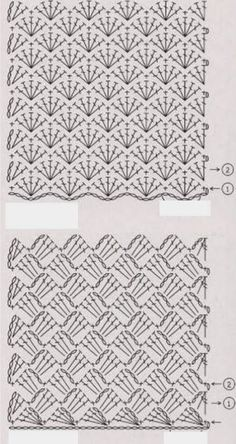 Best 10 Free crochet pattern pattern is for a sweater but can use the general stitch for other projects salvabrani – artofit – Artofit – SkillOfKing. Crochet Motifs, Crochet Diagram, Crochet Stitches Patterns, Crochet Chart, Free Crochet, Stitch Patterns, Knitting Patterns, Diy Crafts Crochet, Crochet Projects