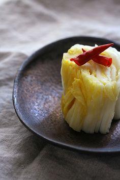 Korean Food pickled napa cabbage