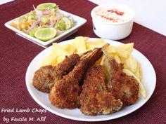 Fried Chops | Fauzia's Kitchen Fun