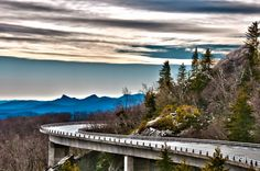 Blue Ridge Parkway Viaduct around Grandfather Mountain, North Carolina