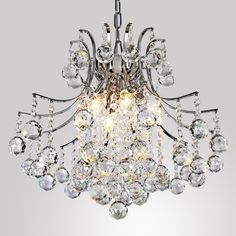 LightInTheBox Modern Contemporary Crystal Chandelier with 6 Lights, Pendant Modern Ceiling Light Fixture for Bedroom, Living Room Dining Room Hallway Entery - Tools & Home Improvement - Lighting & Ceiling Fans - Ceiling Lights - Chandeliers