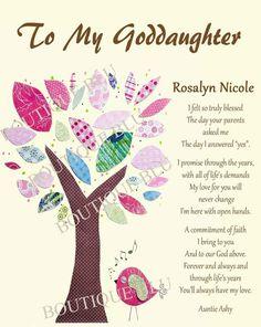 Goddaughter gift Gift for Goddaughter by BoutiqueBlu on Etsy