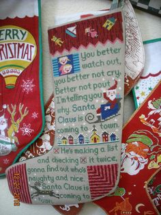 Birds of a Feather pattern. Stiched earlier this year and finally finished in the nick of time. Hanging with my collection of stockings. Cross Stitch Christmas Stockings, Christmas Cross, Winter Christmas, Christmas Things, Xmas, Feather Pattern, Embroidery Art, Bird Feathers, Cross Stitching