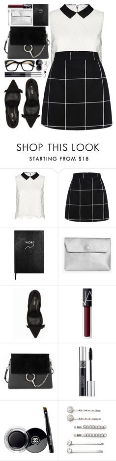"""#1033 Kathryn"" by blueberrylexie ❤ liked on Polyvore featuring Alice + Olivia, Sloane Stationery, Boohoo, Nly Shoes, NARS Cosmetics, Chloé, Christian Dior, Chanel and Elle"