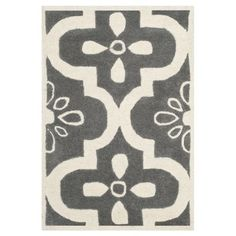 Safavieh CHT751D Chatham Dark Grey and Ivory Area Rug  Chatham Dark Grey and Ivory Area RugThe Chatham collection by Safavieh contrasts ancient Moroccan